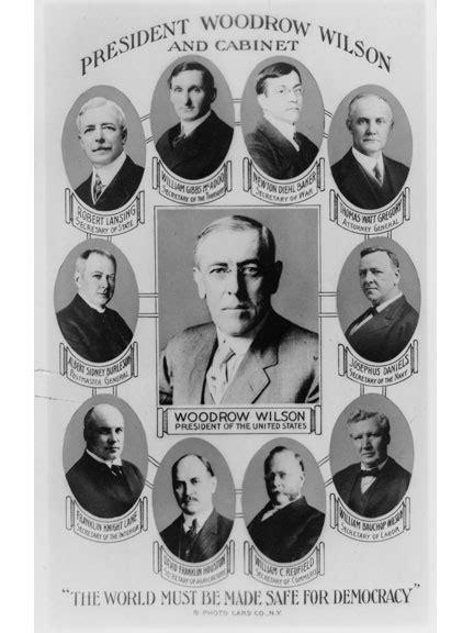 Woodrow Wilson Cabinet Members woodrow wilson