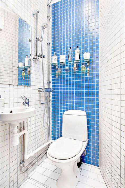blue bathroom decor ideas piso pequeño de estilo escandinavo decorar hogar