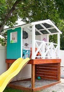 Selber Bauen Mit Holz : so bauen sie ein kinder stelzenhaus mit rutsche in ihrem ~ Lizthompson.info Haus und Dekorationen