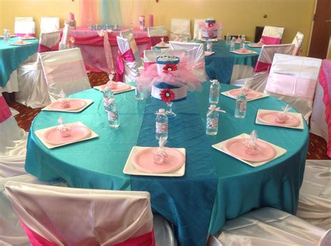 Teal And Pink Baby Shower Decorations by Pink Pink And Turquoise Baby Shower It S A
