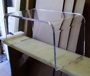 acrylic coffee cocktail waterfall table lucite 32quot long ebay With used acrylic coffee table