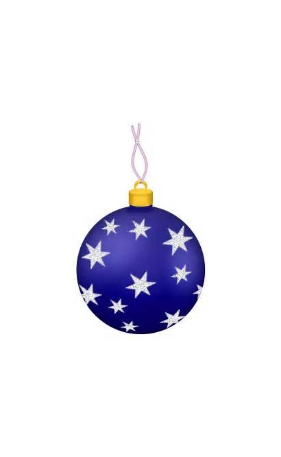 Christmas Transparent Ball Ornament Clipart Stars Clip