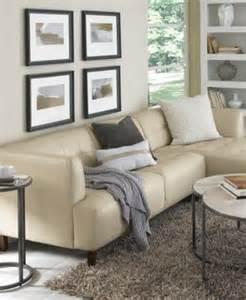 alessia leather 3 piece sectional sofa furniture macy s