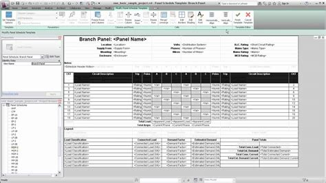Schedule Template by Autodesk Revit Mep Panel Schedule Templates