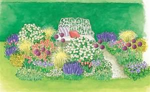 Rosenbeet Mit Stauden : zum nachpflanzen ein bl hendes beet mit rosen und stauden gardens garten and garden planning ~ Frokenaadalensverden.com Haus und Dekorationen