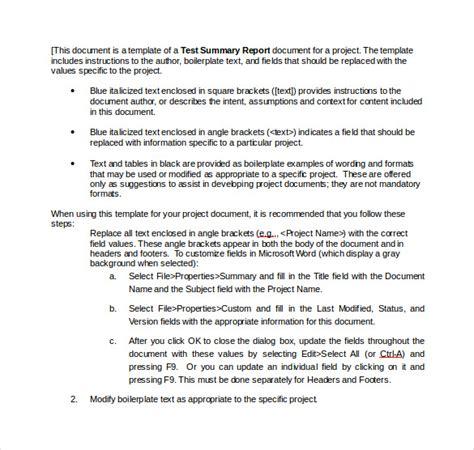 summary report template summary report template 10 free word pdf documents free premium templates
