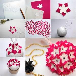 creative ideas diy felt flower ornament