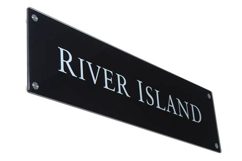 contemporary glass signs