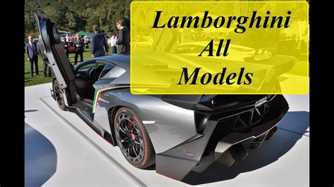 All Models Of by Lamborghini All Models From Beginning 1964 2016
