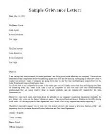 Sample Grievance Letter Levelings