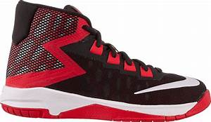 Nike Hyperfuse 2017 Kids Basketball Shoes Black Red Silver ...