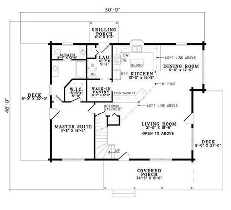 plan 110 00928 2 bedroom 2 bath log home plan