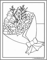 Coloring Bouquet Floral Flower Pdf Sheet sketch template
