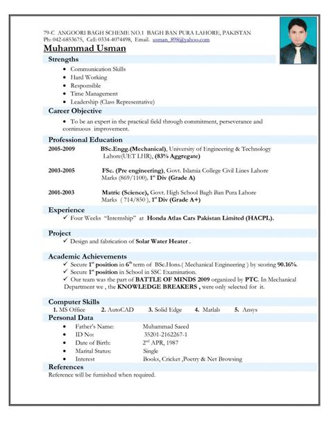 Resume For by Resume Images For Freshers Letter Exles Format Hd