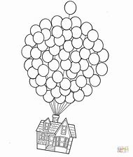 Up Balloon House Coloring Pages
