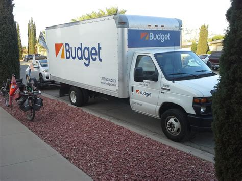 16-foot Parcel Van Rented By Budget.