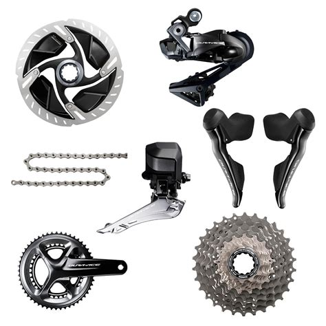 shimano dura ace r9170 di2 11 speed groupset hydraulic disc brake probikekit uk