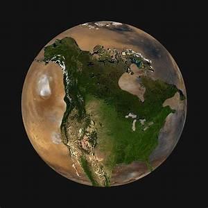 NORTH AMERICA vs MARS & MOON; SIZE COMPARRISON | DanSpace77