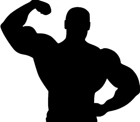 Gym Fitness Silhouette Clipart #2132202