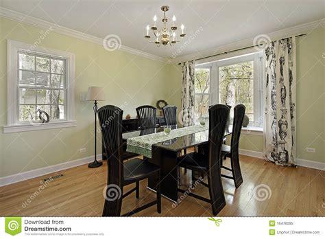 dining room  light green walls stock image image