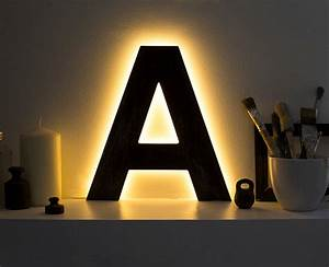 led lamps letter lights light up initials led home decor With wooden letters with lights