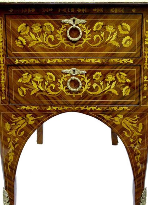 bureau marqueterie empire desk marquetry inlay bureau plat writing table