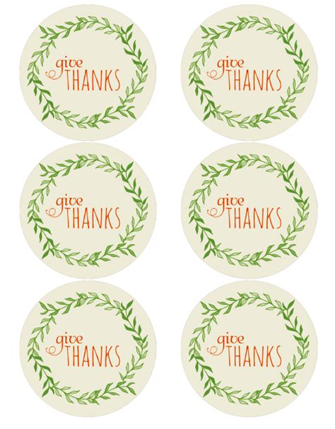 thanksgiving holiday label printables  printable