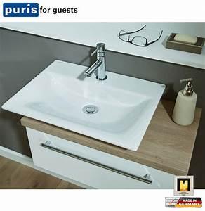 Waschtisch Mit Unterschrank 60 Cm : puris for guests waschtisch set 60 cm mit keramik setfg6008 impuls home ~ Bigdaddyawards.com Haus und Dekorationen