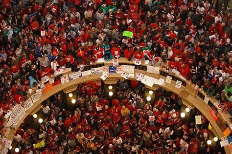 America Revealed: Political Fight Over Unions Escalates