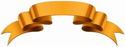 Banner Clip Orange Clipart Banners Ribbons Banderole