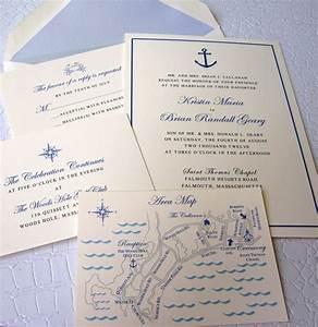 nautical wedding invitation suite With nautical map wedding invitations