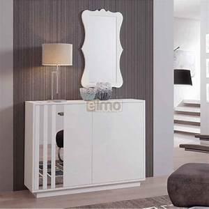 meuble entree contemporain miroir stripe With meuble d entree contemporain