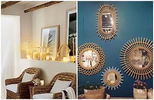 Deco Pour Salon : fauteuil rotin et miroir assorti pour le salon clem atc ~ Premium-room.com Idées de Décoration