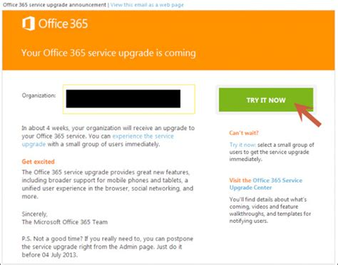 Office 365 Upgrade by Office 365 Service Upgrade Status Cloudforyoucloudforyou