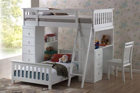 lit superposé avec bureau intégré lit superposé avec bureau de travail et rangement intégré