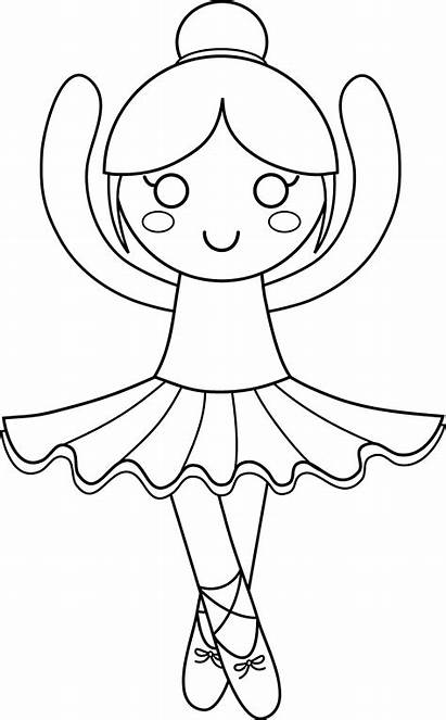 Ballerina Coloring Pages Clipart Ballet Drawing Clip