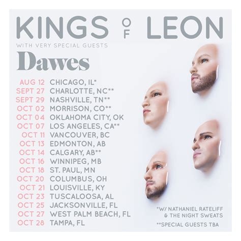 Kings Of Leon Tour 2018 Another1storg