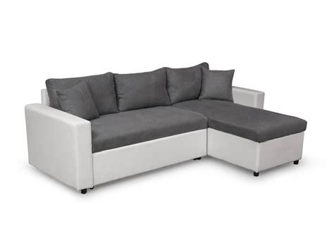 canapé blanc et gris canapé d 39 angle réversible et convertible avec coffre gris