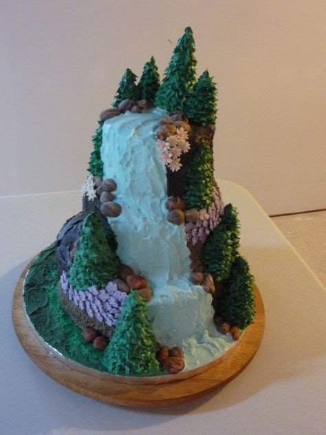 nature theme cake waterfalls cake treys graduation