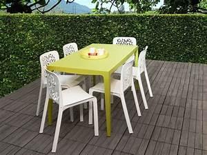 Chaise Et Table De Jardin : stunning petite table de jardin vert anis gallery ~ Dailycaller-alerts.com Idées de Décoration