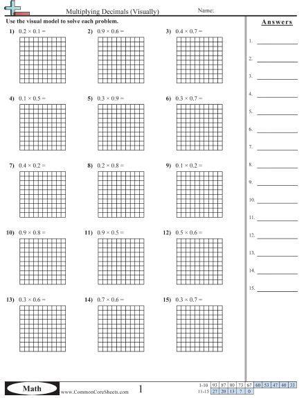decimal worksheets decimals worksheets decimals common