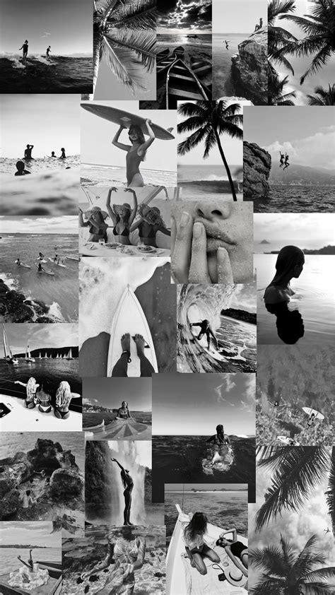 black and white collage wallpaper desktop
