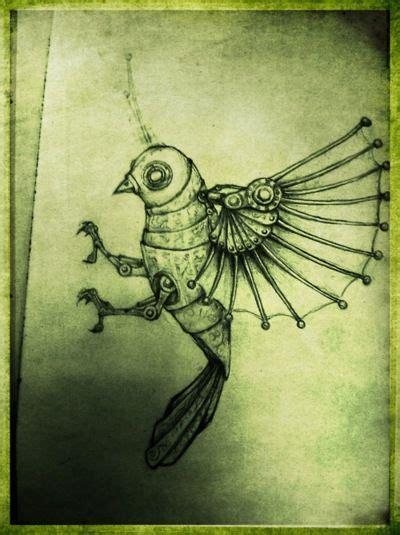 steampunk bird ideas  pinterest steampunk