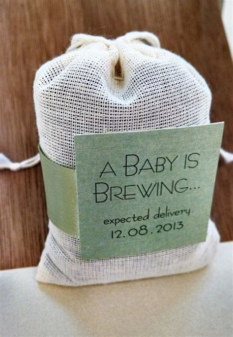 baby  brewing tea bag baby shower favor sets   etsy baby shower gift bags unisex