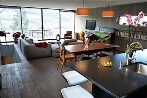 agencement des pieces d39une maison et architecture d With salle À manger contemporaine avec la cuisine