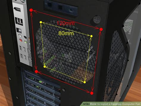 biggest pc case fan how to install a desktop computer fan with pictures