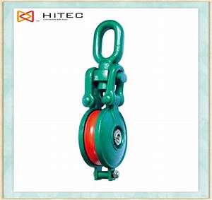 Oval Eye Open Single Sheave Pulley Snatch Block And Guide
