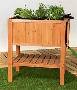 Hochbeet Für Garten : hochbeet pflanztisch kr uterbeet tannenholz mit ablage f r balkon und terrasse ~ Sanjose-hotels-ca.com Haus und Dekorationen