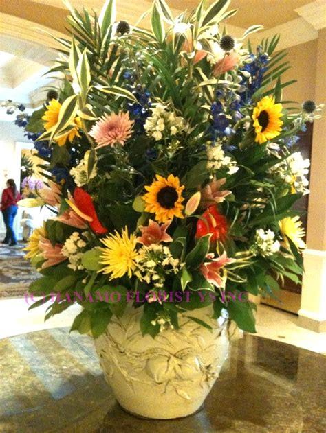 big flower pot arrangements lobb000 extra large classic lobby seasonal flowers arrangement lobb000 0 00 hanamo