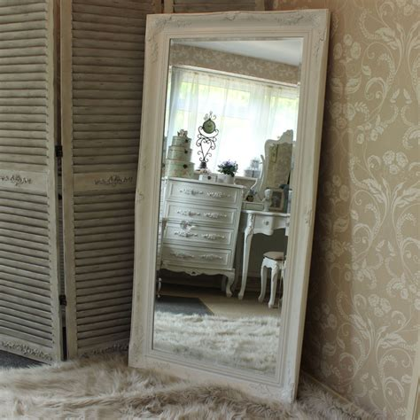 floor mirror and wall mirror extra large white ornate mirror melody maison 174
